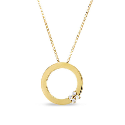 ROBERTO COIN LOVE IN VERONA 18CT YELLOW GOLD CIRCLE NECKLACE