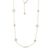 ROBERTO COIN PRINCESS FLOWER 18CT ROSE GOLD MOTHER OF PEARL AND DIAMOND NECKLACE