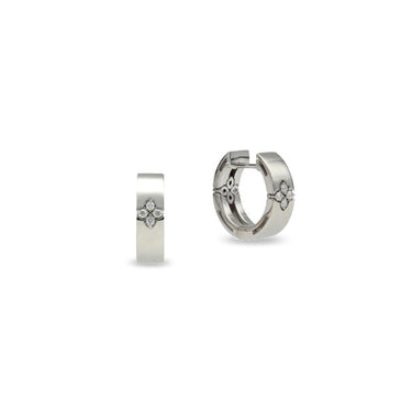 ROBERTO COIN LOVE IN VERONA 18CT WHITE GOLD & DIAMOND EARRINGS