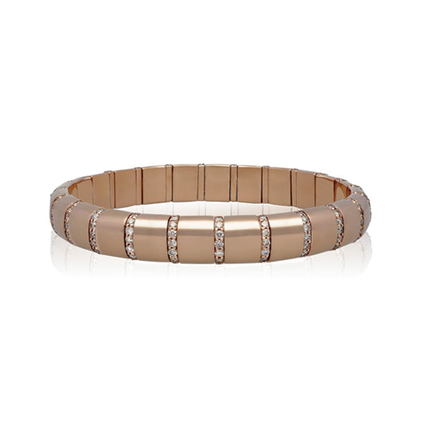 ROBERTO DEMEGLIO PURA ORO 18 ROSE GOLD BRACELET WITH DIAMONDS