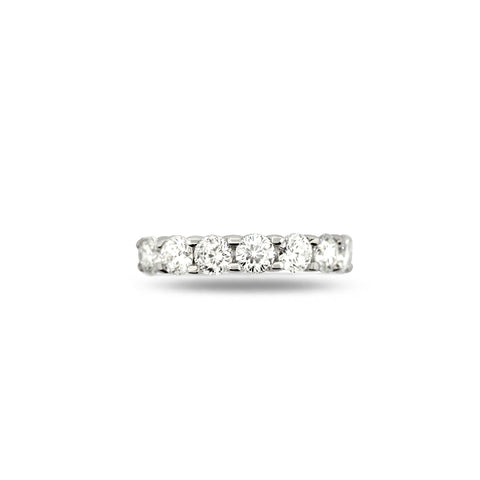 'CENTO CUT' DIAMOND ETERNITY RING IN 18CT WHITE GOLD