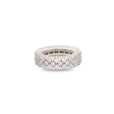 ROBERTO DEMEGLIO CASHMERE 18CT WHITE GOLD AND DIAMOND STRETCH RING