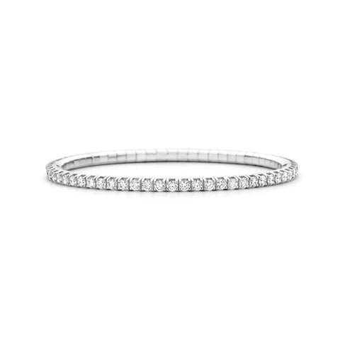 ROBERTO DEMEGLIO 18CT WHITE GOLD 'EXTENSIBLE' DIAMOND TENNIS BRACELET