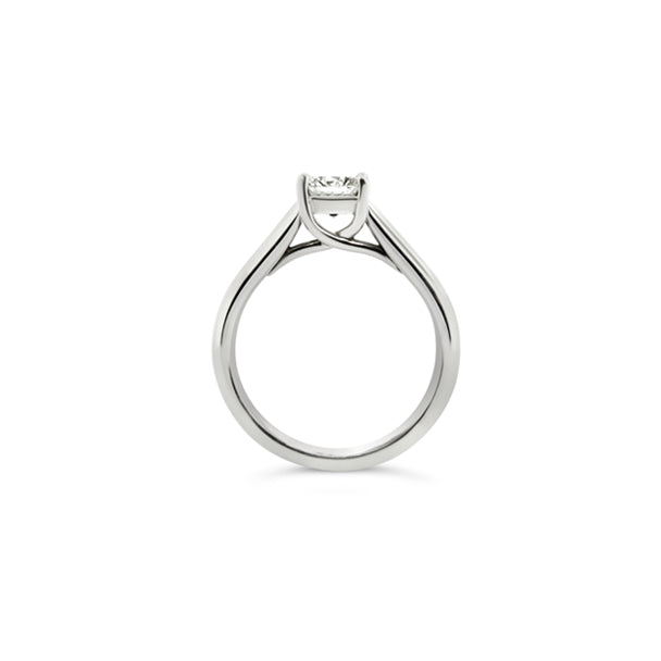 PLATINUM 0.76CT 'ASSCHER CUT' DIAMOND ENGAGEMENT RING