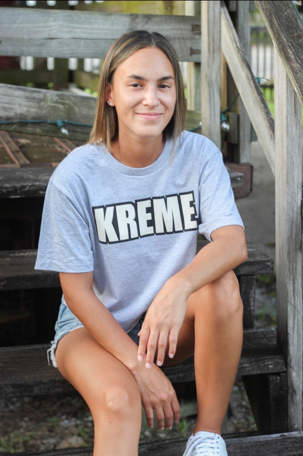 Original KREME Grey Cropped Tee