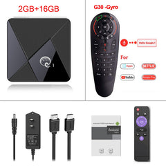 Q1 MINI Smart TV BOX Andriod 9.0 Netflix Youtube 2GB 16GB Rockchip RK3328 Quad Core 2.4GHz WIFI 4K Google Play Android TV Box