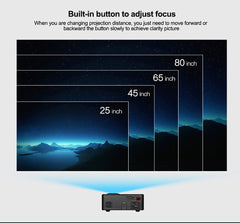 LEJIADA 814 LED Mini Projector Portable Projector With USB Home Media Projector Supports 1080P Player Built-in Speaker
