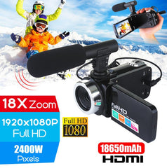 Professional 4K HD Camcorder Video Camera Night Vision 3 Inch LCD Touch Screen 18x Digital Zoom Camera with Microphone r30