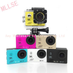 100% MLLSE waterproof 4K WIFI Sport Action camera Ultra HD 4K WiFi 1080P/60fps 2.0 LCD 170D lens Cam sports camera