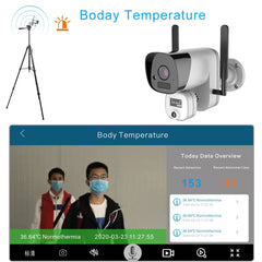 2MP WiFi scope thermal vision temperature detection face recognition thermal camera detection fever camera termica thermo camera