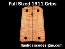 Load image into Gallery viewer, Tiger stripe maple full sized 1911 grips