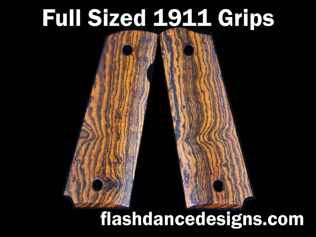 Full sized 1911 grips in bocote