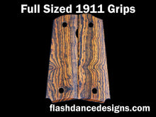 Load image into Gallery viewer, Full sized 1911 grips in bocote