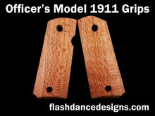 Load image into Gallery viewer, Officer's model 1911 grips in silky oak
