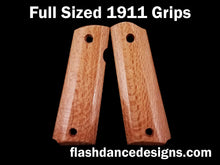 Load image into Gallery viewer, Silky oak full sized 1911 grips