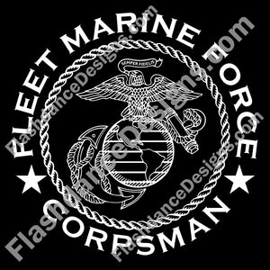 USMC Fleet Marine Force Corpsman Decal  USMC Eagle Globe and Anchor surrounded by Fleet Marine Force Corpsman  Greenside Corpsman
