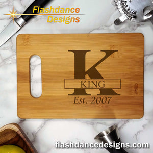 Custom Laser Engraved Bar Board - Great Wedding, Anniversary, or Housewarming Gift