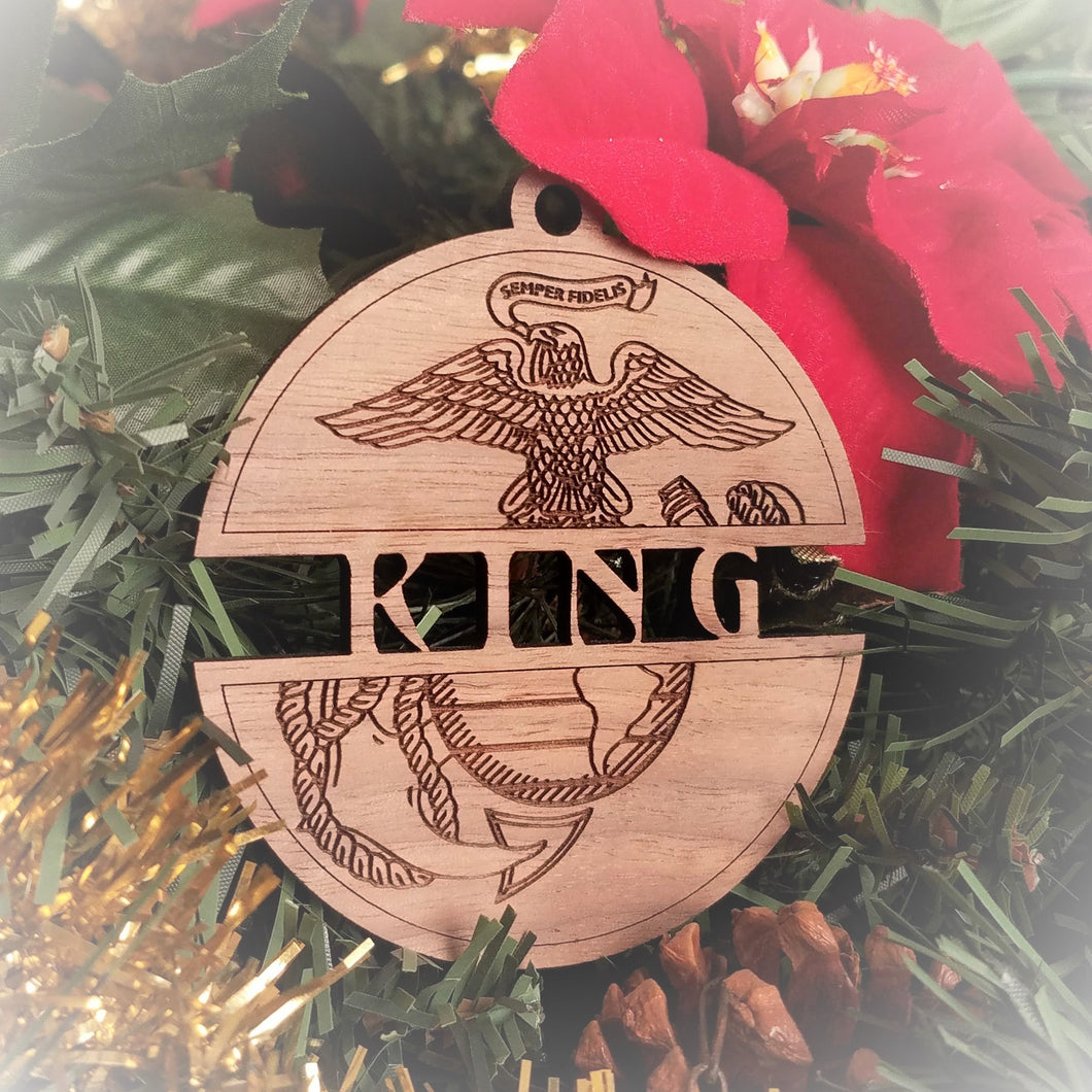Personalized USMC EGA Ornament