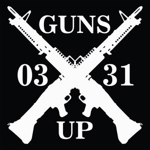 Guns Up, M60 Decal