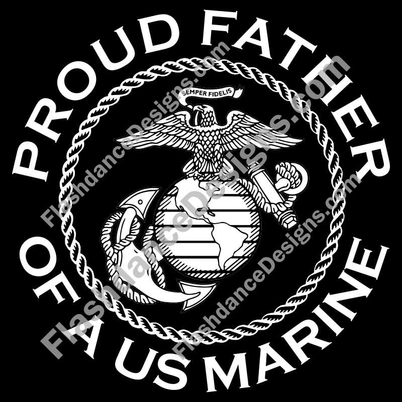Proud Father of a US Marine Decal