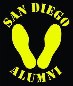Yellow Footprints San Diego Decal
