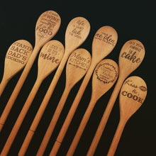 Load image into Gallery viewer, A selection of laser engraved beech wood spoons