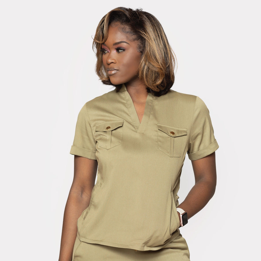 Signature Collection Utility Scrub Top- Limited Edition