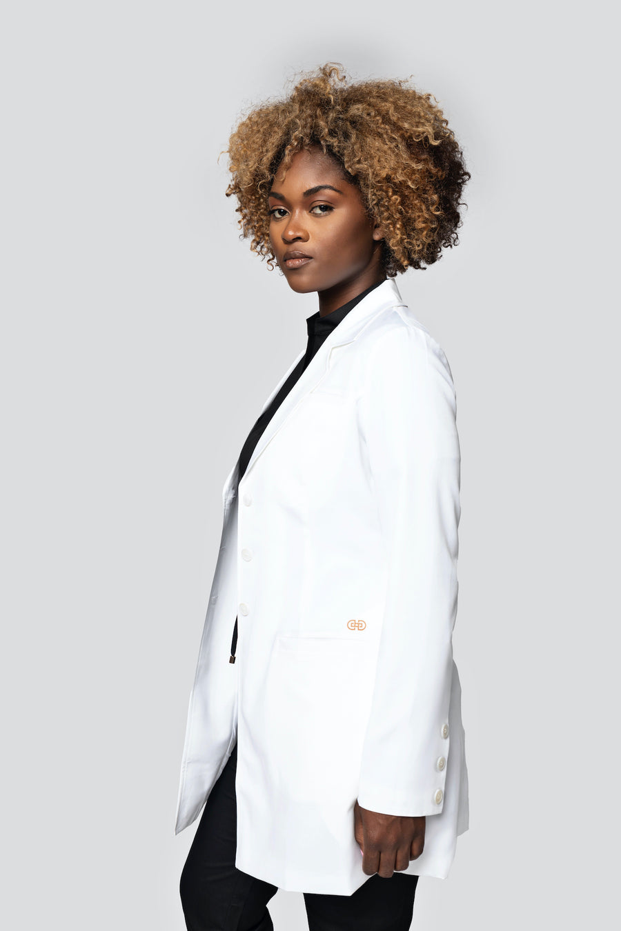 Signature Collection Fitted Silhouette Lab Coat