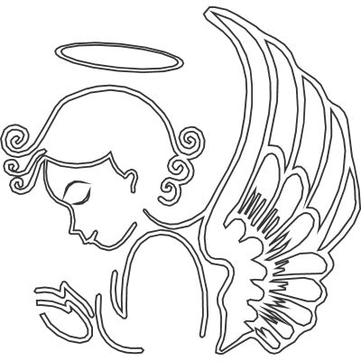 Praying Angel with Wings and Halo