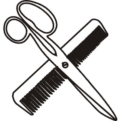 Hair Comb & Scissors