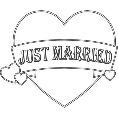 Heart Just Married Banner