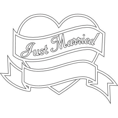 Just Married Double Scroll