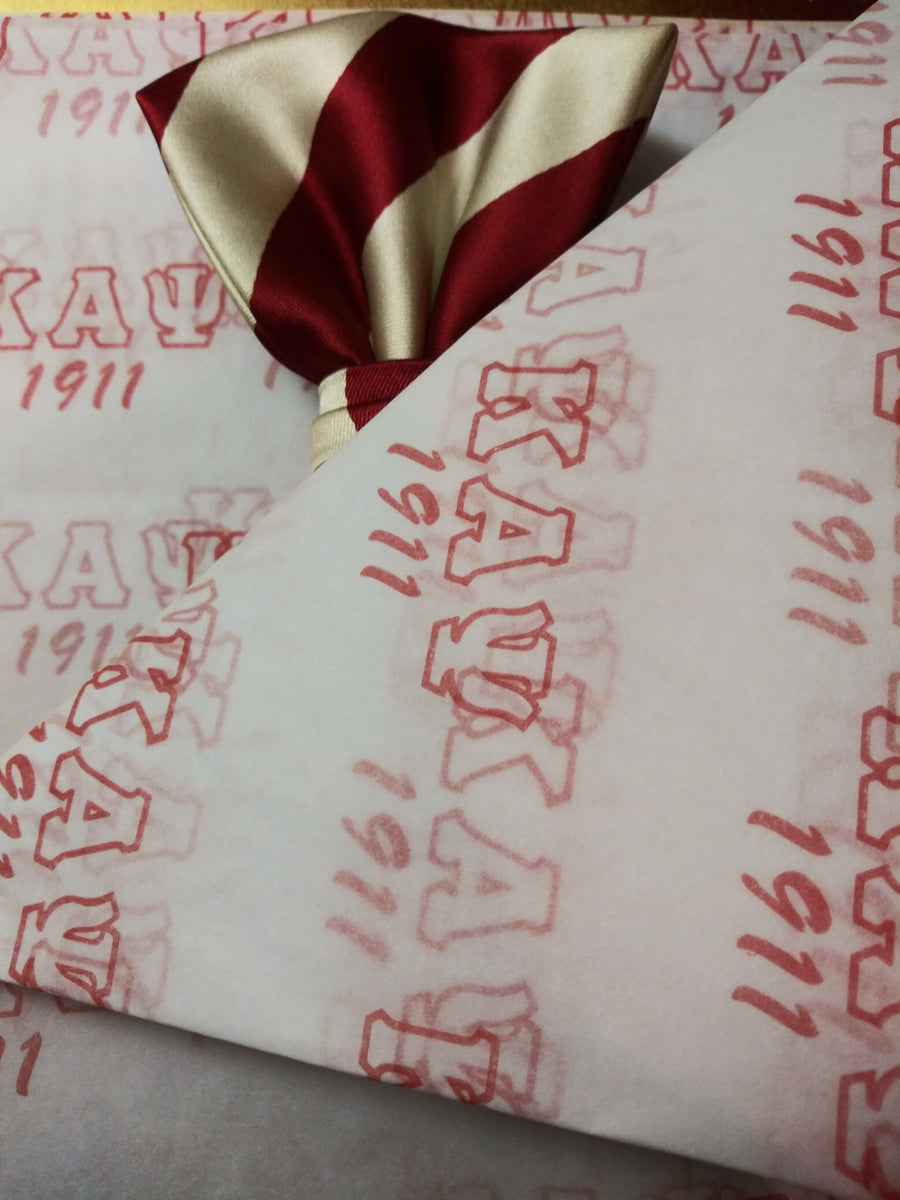 Kappa Alpha Psi Gift Tissue Paper, 5 XL Sheets (Tissue Paper Only)