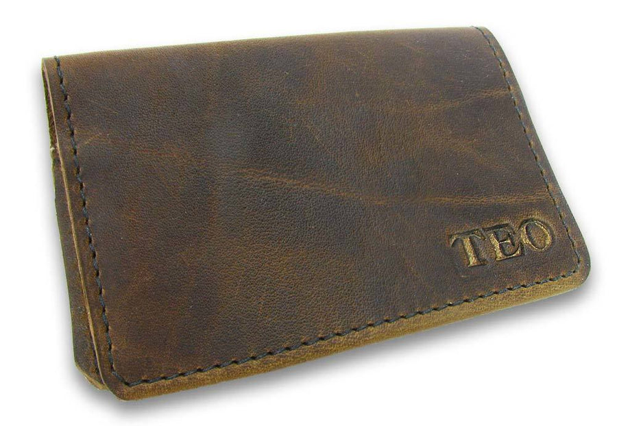 Personalized Leather Card Wallets