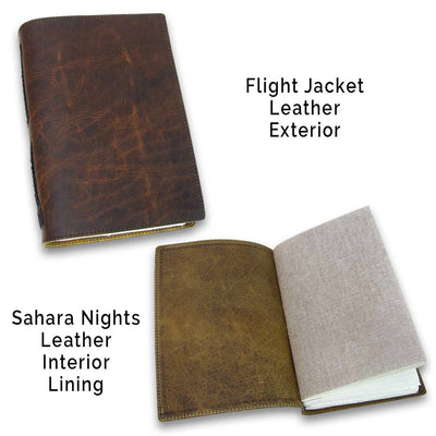 Custom Leather Lined Journals