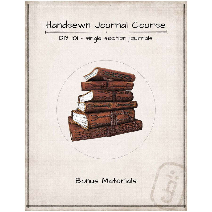 DIY 101 Course for making Single Section Journals