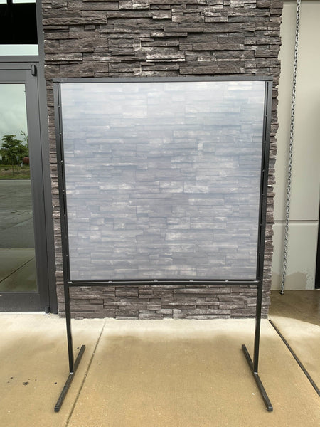 6' Self Standing Plexiglass Sneeze Guard with Acrylic Shield - BC Retail Supplies