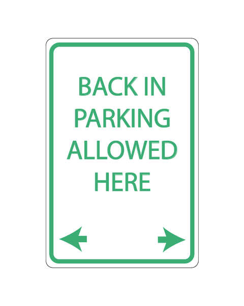 "Back in Parking Allowed Here Sign 3mm 12""x18"" Aluminium Composite - BC Retail Supplies"
