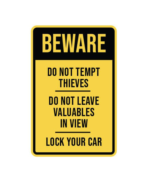 "Beware of Theft Sign Aluminum Composite 12""x18""x 3mm - BC Retail Supplies"