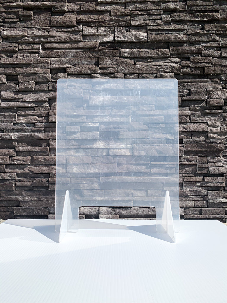 "Countertop Sneeze Guard 24""x30"" Clear Acrylic Plexiglass - BC Retail Supplies"