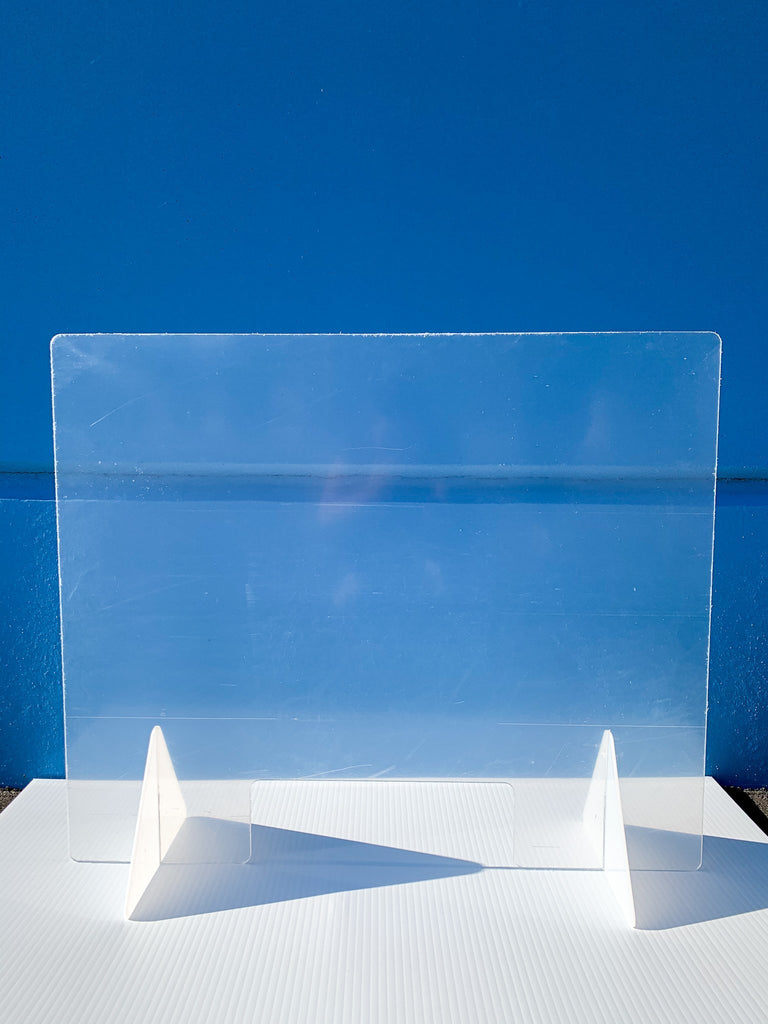 "Countertop Sneeze Guard 36""x30"" Clear Acrylic Plexiglass - BC Retail Supplies"