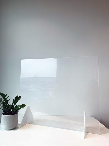 "Countertop Sneeze Guard 36""x30"" No Access Hole Clear Acrylic Plexiglass - BC Retail Supplies"