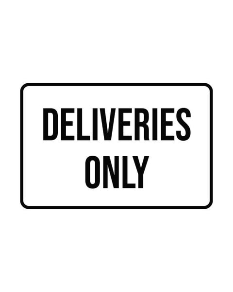 "Delivery Sign Aluminum Composite 18""x12""x 3mm - BC Retail Supplies"