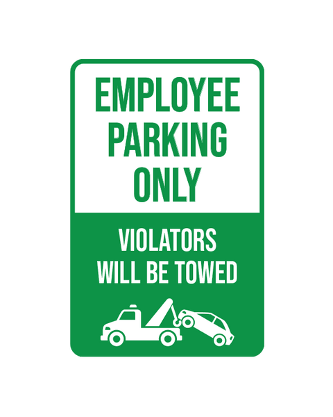 "Employee Parking Only Sign Aluminum Composite 12""x18""x 3mm - BC Retail Supplies"
