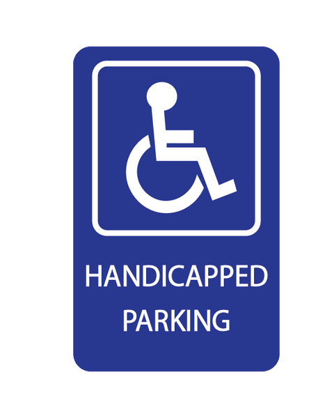 Handicap Parking Sign 3mm 12″x18″ Aluminium Composite - BC Retail Supplies