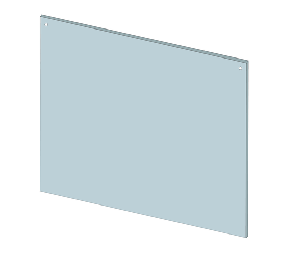 "Hanging Sneeze Guard 36""x30"" Clear Acrylic Plexiglass - BC Retail Supplies"