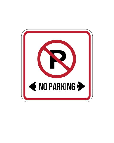 No Parking 3mm 12″x12″ Aluminium Composite - BC Retail Supplies