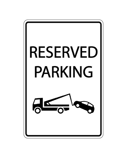 Reserved Parking Sign 3mm 12″x18″ Aluminium Composite - BC Retail Supplies