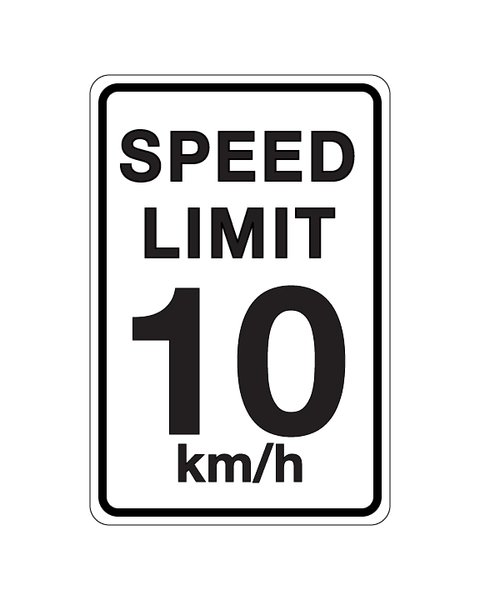 Speed Limit Sign 3mm 12″x18″ Aluminium Composite - BC Retail Supplies