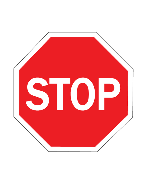 Stop Sign 3mm 24″x24″ Aluminium Composite - BC Retail Supplies